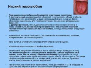 Низкий гемоглобин после тяжелой операции