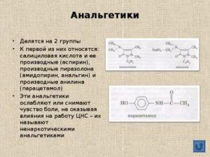 К какой группе препаратов относится Анальгин?