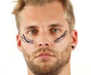 Удаление волос под глазами у мужчины