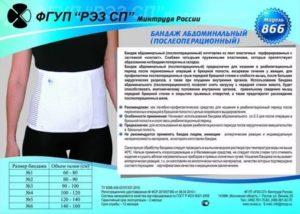 Ношение бандажа после резекции желудка