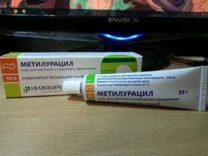 Курс лечения мазью метилурацил