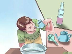 Как правильно промывать нос?