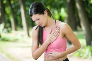 Боль в груди при беге