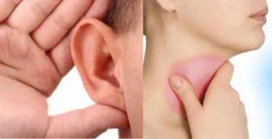 Заболело горло, потом ухо, температура