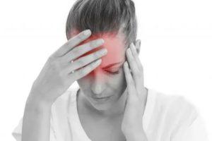Небольшая головная боль и боль в горле, головокружение