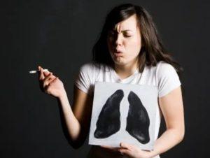 Удушье после курения