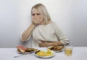 Отрыжка и изжога после жирной и острой пищи